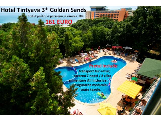 Hotel Tintyava 3* Golden Sands - 161 Euro